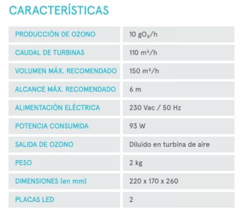 Características específicas del cañón generador de ozono portátil de la empresa Star Holding. Llévalo contigo donde quieras