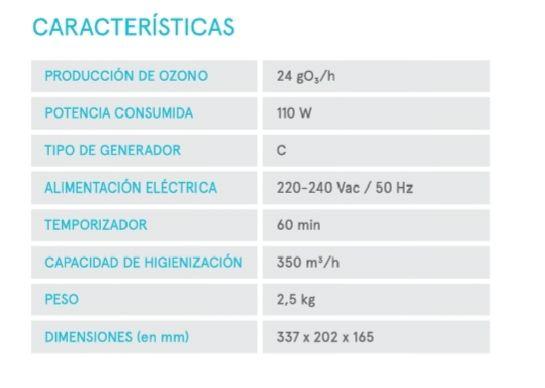 Si quieres saber las características de Ozonpure, aquí verás que su eficiencia es única.