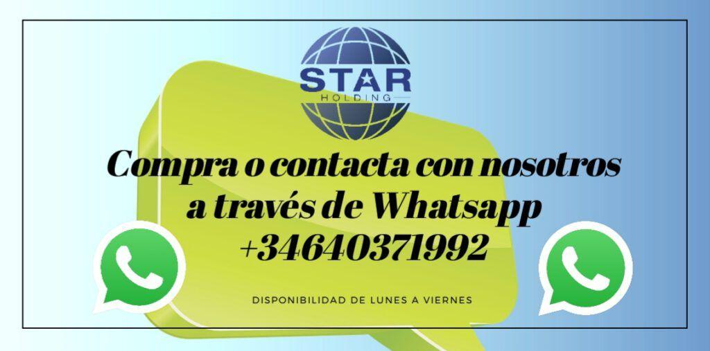Puedes contactar con nosotros a través de WhatsApp y averiguar más sobre nuestros productos.