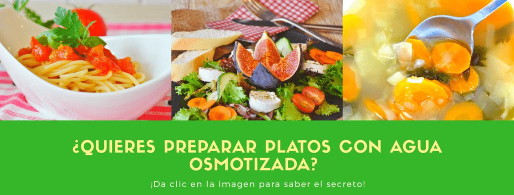 recetas para preparar platos con agua osmotizada, una idea en el blog
